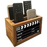 "Nutcase Designer Teak Wood TV Remote Stand For Home Remote Holders Organizer Caddy for TV/AC Remotes Control -Multipurpose Desk Organiser-6""x4""x4"" - FILMY"