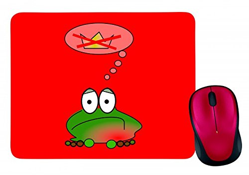 mouse-pad-frog-sad-green-amphibian-animal-thinking-crown-fairy-tale-prince-frog-kings-wildlife-store