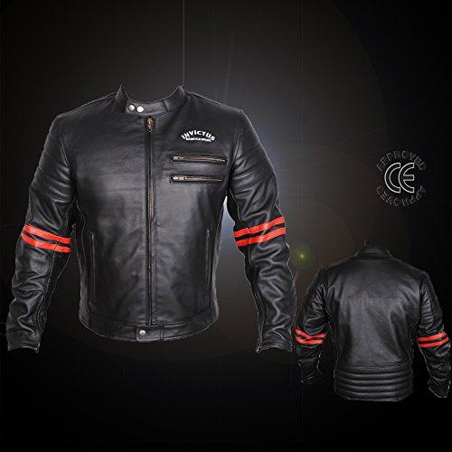 Motorrad-Jacke aus Leder, Vintage Cafe Racer Invictus Hades XL (Jacke Cafe Leder)