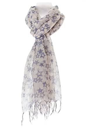 Smart Star Print 100% Pure Quality Cotton Scarf Wrap - Exclusive.