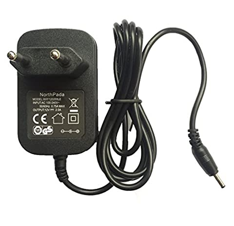 NorthPada® Europe Chargeur adaptateur secteur Alimentation 12V 2A 2000mA pour Acer Iconia Tab A100 A200 A210 A500 Tab W3-810 Tablette