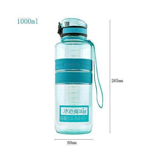 Yvonnelee Tritan Trinkflasche Wasserflasche für Damen, Herren und Kinder Outdoor Camping Wandern Flasche Auslaufsicher BPA Frei Grün