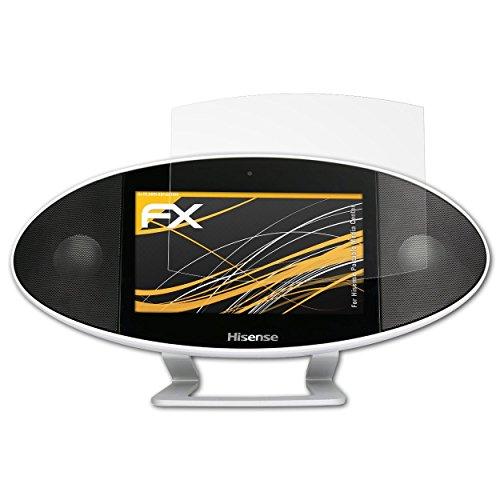 atFoliX Panzerfolie kompatibel mit Hisense Portable Media Center Schutzfolie, entspiegelnde und stoßdämpfende FX Folie (3X)