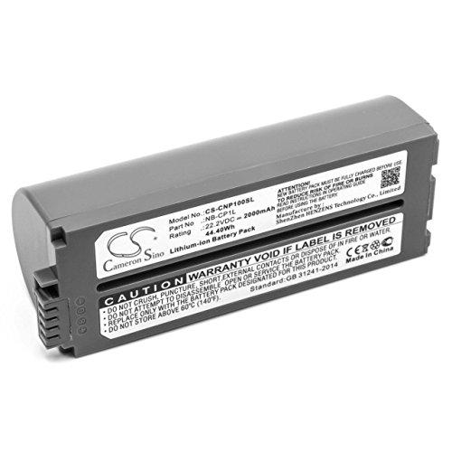 vhbw Li-Ion Akku 2000mAh (22.2V) für Drucker Kopierer Scanner Etiketten-Drucker Canon Selphy CP-100, CP-1000, CP-1200, CP-1300, CP-200, CP-220 -