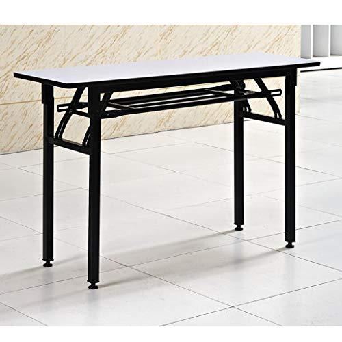 HYYSH Kunststoff-Klapptisch Konferenzraum rechteckiger Klapptisch Home Einfacher Esstisch/großer Desktop, 120 × 40 cm, 120 × 60 cm, zwei Größen erhältlich (größe : 120×60×75cm) - Große Rechteckige Esstisch