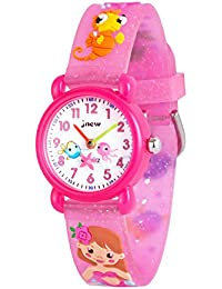 91bb0eb1bbdc WOLFTEETH Analog Girls Toddlers School Day Reloj de Pulsera con Segunda Mano  Cute Small Face Dial Redondo Water Little Girl Resistente al…