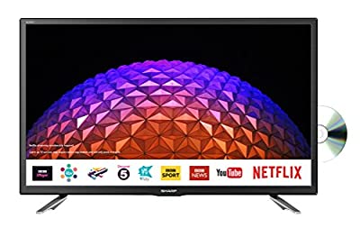 Sharp LC-24DHG6131KF 24 Inch HD Ready LED Freeview Play, Smart TV, Built-in DVD player, 2 x HDMI, SCART, USB Record, Remote Control - Wall Mountable