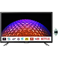 Sharp LC-24DHG6131KF 24 Inch HD Ready LED Freeview Play, Smart TV, Built-In DVD Player, 2 x HDMI, Scart, USB Record Black