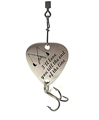 Christmas Gifts For Husband Boyfriend I Will Love You till the End of the Line Fishing Lure Gift Anniversary Christmas Valentines's Day Fisherman Gifts for Him