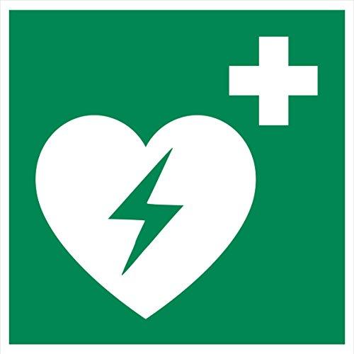 10 AED Aufkleber - Aufkleber Automatisierter Externer Defibrillator (10 Stück) AED Aufkleber Rettungszeichen, AED-Schild überkleben, Warnzeichen Automatisierter Externer Defibrillator Herzinfarkt