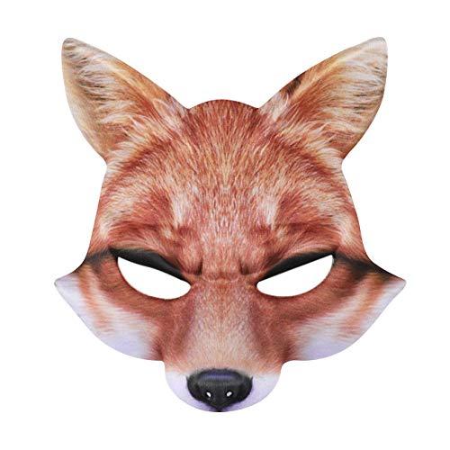 Halloween Maske Maskerade Venezianischen Masken Kostüm Party Prinzessin Schwarz Costume Face Foxes Mask Venezianische Damen Spitze Augenmaske Gothic Gesichtsmasken für Maskenball (Fox Hunde Kostüm)