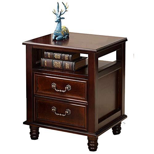 Wen ying comodino in pino comodino in camera da letto armadietto comodino moderno semplice con 2 cassetti (color : brown)