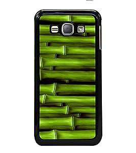 Fiobs High Glossy Designer Phone Back Case Cover Samsung Galaxy J1 (6) 2016 :: Samsung Galaxy J1 2016 Duos :: Samsung Galaxy J1 2016 J120F :: Samsung Galaxy Express 3 J120A :: Samsung Galaxy J1 2016 J120H J120M J120M J120T ( Bamboo Stick Oil Paint Look )