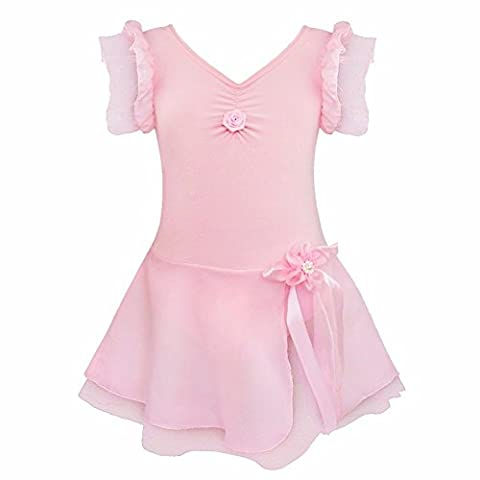 iiniim Girls Tutu Ballet Dance Dress Dancewear Leotard Fancy Costume Pink 5-6 Years
