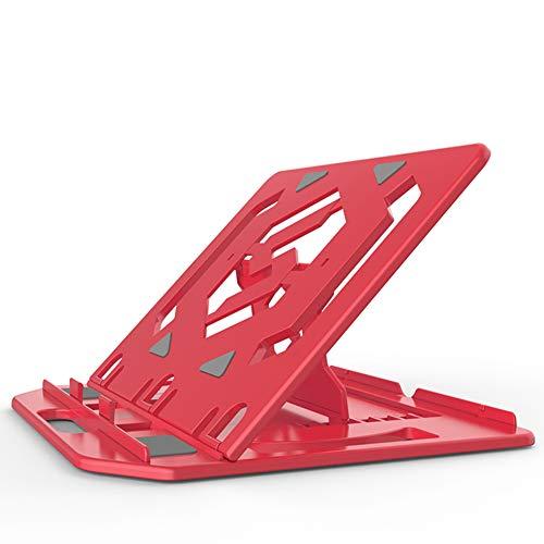 DNSK10 Notebook Ständer Halswirbel Desktop Büro Computer Lift Faule Tragbare Halterung Kühler Vertikales Regal Erhöhen Pad Basis Falten Schwarz Und Weiß Pulver Blau Rot