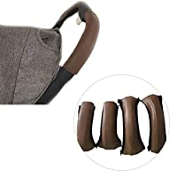 Dinapy Protective Cover Universal Accessories 4PCS/Pack Baby Stroller Armrest Leather Cover Armrest Handle Covers Pu Leather Protective Case Cover
