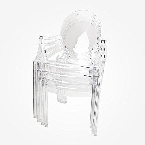 Kartell Louis Ghost 4852 - Set de 4 chaises Cristal transparentes Philppe Starck