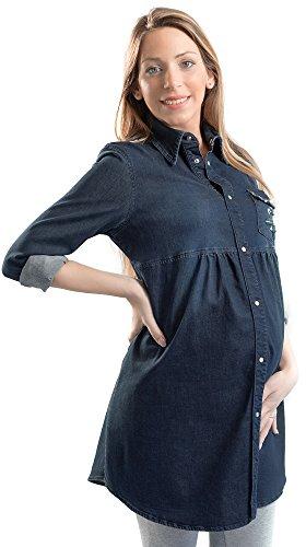 Camicia lunga di jeans premaman Jenny denim