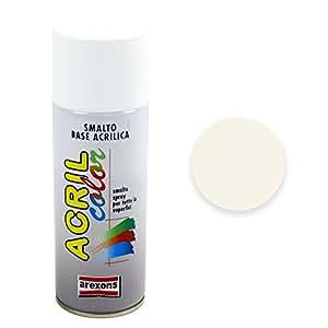 Arexons 3932 Acrilcolor Ral 1013, Bianco Perla, 400 ml