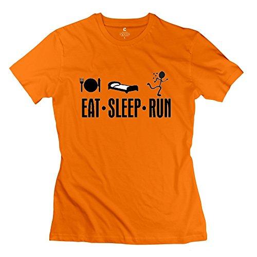 onlyprint-womens-eat-sleep-run-t-shirt-size-m-us-orange