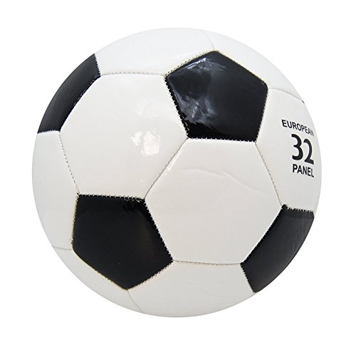 Fußball Ball Professional Team Training Ball Sport Herren Fußbälle Enthält Netzbeutel / Gasnadel / Luftpumpe,Official Größe 5 (Klassisches Schwarz)