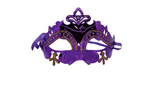 Venezianische Venetianische Maskerade Maske Karneval Kostüm Fasching Verkleidung Shades of Grey Herren und Damen Funkelnd Mitternacht (Lila Maske Maskerade)