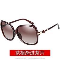 LLZTYJ Sonnenbrille/Polarisierte Sonnenbrille Frauen Runde Sonnenbrille Frauen Runde Gesicht Herren Driving Glasses/Geschenke/Dekoration/Valentinstag, Schwarz