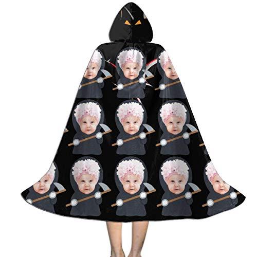 DIYBESTGIFT Kinder Halloween Cosplay Kostüm angepasst lustige Foto Mantel für Kinder( schwarz M ) (Hausgemachte M&m Kostüm)