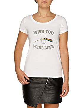 Wish You were Beer Camiseta Blanco Mujer | Women's White T-Shirt