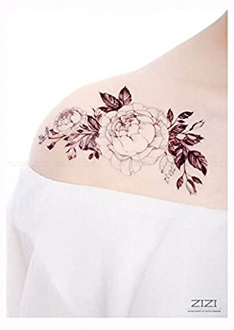 ZiZi Designer Papier Autocollant Maquillage Tattoo Art Corporel 3d à La Mode Des Tatouages Temporaires étanches,2 pcs,00221,5