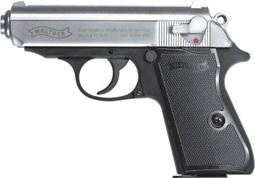 Walther PPK/S bicolor mit Vollmetall Metallschlitten Softair 0,5 J 6 mm BB Federdruck
