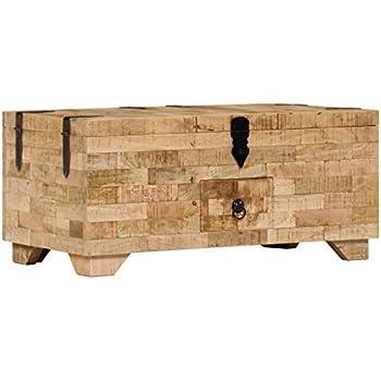 Couchtisch Holztruhe Beistelltisch Kiste Truhe Tisch Holztisch Mangoholz Massiv