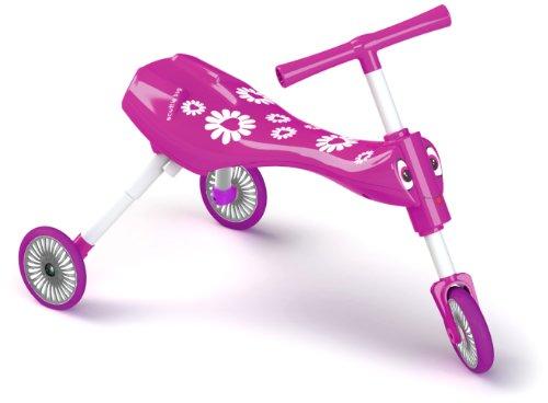 Blume Aktivität (Mookie 8543 - Scuttlebug Blumen Fahrrad, pink/weiß)