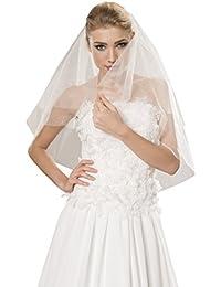 bis Ellbogen lang handgeschm/ückt mit Spitzenborte Lange 80cm Braut-Schleier Hochzeit Schleier fur die Braut Breite 150cm