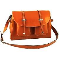 Yippydada Paris Real Leather Baby Changing Bag (Orange)