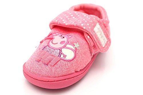 Mr Shoes ,  Mädchen Flache Hausschuhe Rose