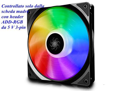 DEEPCOOL CF140 RGB LED-PWM-Lüfter,Gehäuselüfter 140 mm, RGB Sync, 5V 3pin ADD RGB