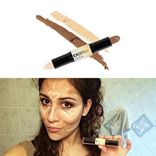 Nuiko Doppia testa Comestic Contour Stick Pen Highlight Brightening correttore penna Matita Naso Eye Shadow 3D Face Bronzer penna Perfect Concealing Blemish