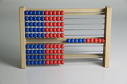100`er Rechenrahmen blau-rot, Abakus, student`s abacus