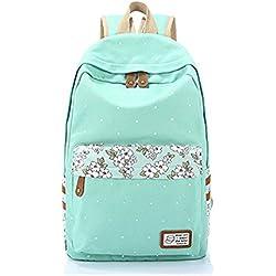 Q.KIM Estilo Espesado Mochila portátil Mochilas Escolares Mujer Backpack Mochila Escolar Lona Grande Bolsa Vendimia Casual Juvenil Chica Colegio Bolso