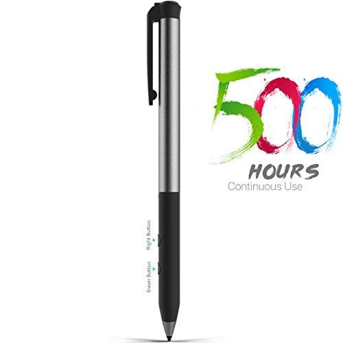 Stylos de Surface Certifiés Microsoft, Support de 500 heures Temps de Disponibilité 180 Jours, la Pression 4096 Stylets Actif pour Surface Go / Pro 3 / Pro 4 / Pro 2017, Surface Laptop / Book / Stud
