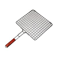 BBQ Grill Basket with Wood Handle