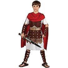 Roman Gladiator Centurian Warrior chicos disfraz (S 3-4 años 110-122cm)