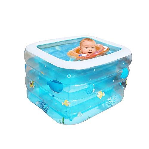 QCQYYC Aufblasbare badewanne wanne Aufblasbarer Pool Rechteckiges Schwimmbecken Für Kleinkinder, Kinder, Familie, Übererdig, Garten, Outdoor badewanne aufblasbar (Color : Blue) -