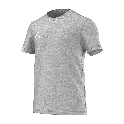 Regen Weißer Tee (adidas Fan-t-shirt/Polo Coref tee, medium grau heather/Weiß, XS, S22386)