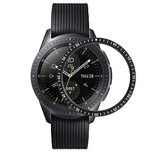 Dkings Kompatibel für Samsung Galaxy Watch 42mm lünette Ring für Gear s2 / Gear sportuhr klebstoff Abdeckung Anti Scratch Edelstahl Schutz