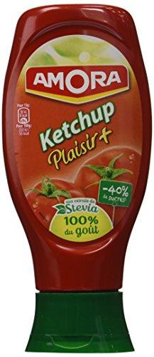 Amora Ketchup Plaisir+ Stevia 465 g - Lot de 6