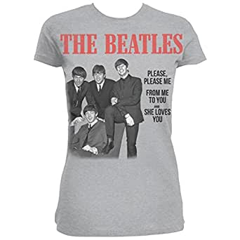 The Beatles Please Please Me Grey Ladies TS: Small