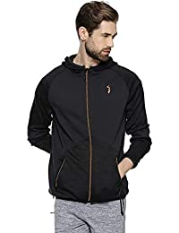 Campus Sutra Men Hooded Sports Jacket