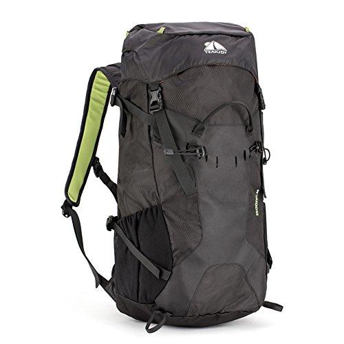 yeahjoy 35L Wandern Rucksack Wasserdicht Rucksackreisen-Tasche Outdoor Sport Daypack für Klettern Bergsteigen Camping Angeln Reisen Radfahren Schwarz